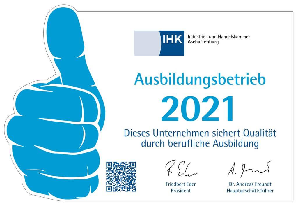 IHK Ausbildungsbetrieb 2021