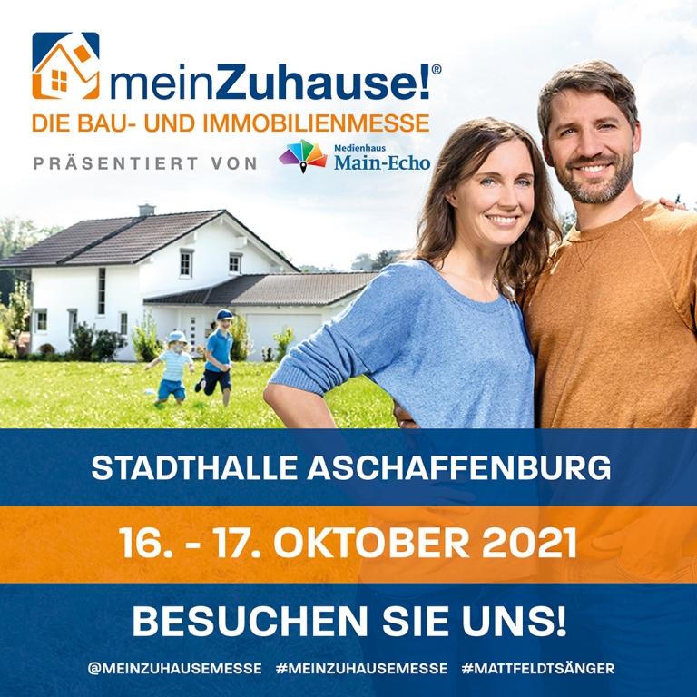 Banner meinZuhause Baumesse Aschaffenburg